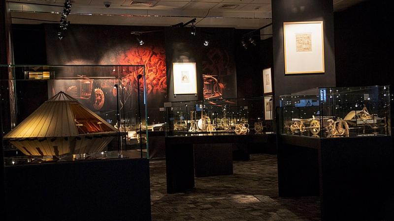 Modelos de Leonardo da Vinci. Foto: Nilton Santana