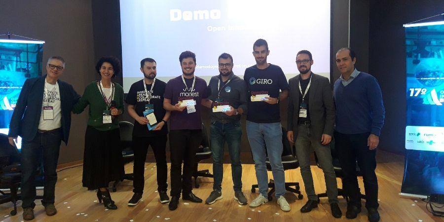 Ganhadores e organizadores do Demo Day 2019